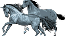 Vectores de caballos corriendo