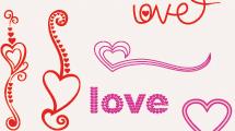 Vectores de corazones