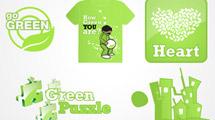 Vectores en verde