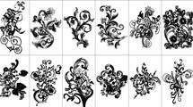 Vectores florales variados