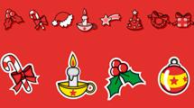 Velas y adornos de Navidad