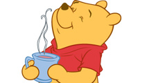 Winnie Pooh con té