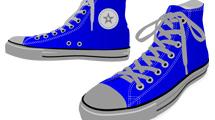 Zapatillas azules con gris
