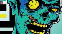 Zombie con banner
