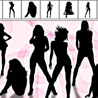 9239a34c4275d Siluetas femeninas sexy. Previa del vector