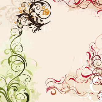 Swirls y flores