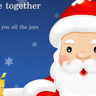 Imagenes Gratis De Papa Noel.Vector Gratis De Tarjeta Con Papa Noel