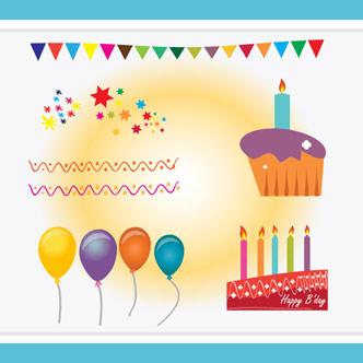 Vector Gratis De Tarjeta De Invitación Feliz Cumpleaños